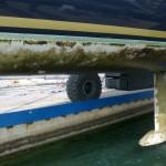 Shipman 63 - Mahi Mahi pred vzdrževalnimi deli na podvodju in trupu