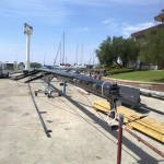 Shipman 72 - Alba 2, stoječa snast sestavljena in pripravljena za montažo