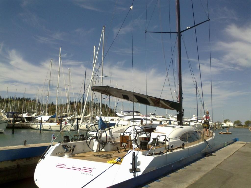 nova Shipman 72 - Alba 2 z novim jamborom in deblom, delo Msailing in Hall Spars BV